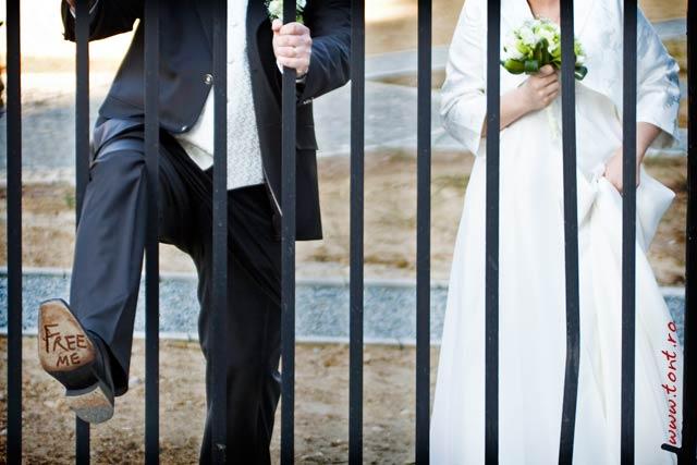 Fotografie de nunta cu mesaj