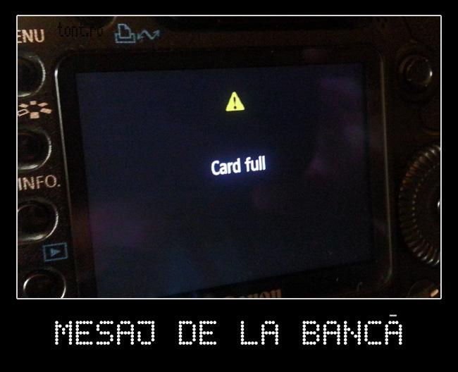 Mesaj de la banca